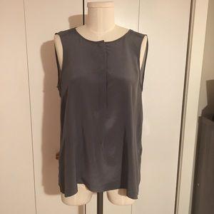 Madewell Gray Silk Sleeveless Blouse Top Shirt M